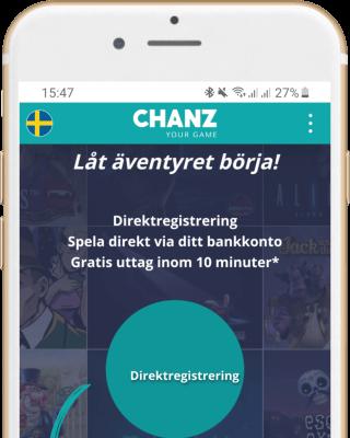Chanz Casino i mobilen