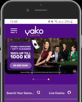 Yako Casino i mobilen