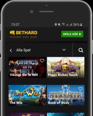 Bethard Casino i mobilen