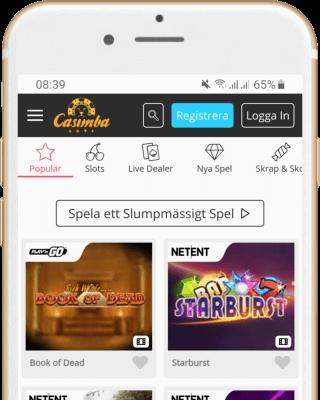 Casimba Casino i mobilen