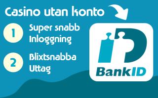 Casino utan konto med BankID