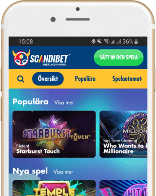 Scandibet Casino i mobilen