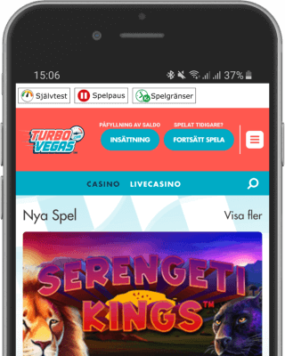 TurboVegas Casino i mobilen