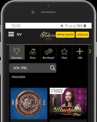 Grand Ivy Casino i mobilen