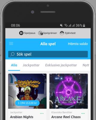 Snabbare.com i mobilen