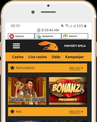 Snabbis Casino i mobilen