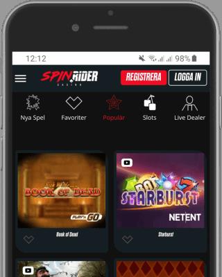 Spin Rider Casino i mobilen