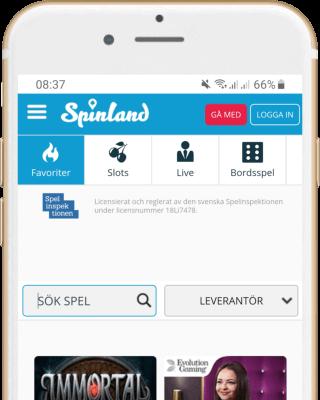 Spinland Casino i mobilen