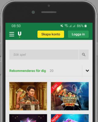 Unibet casino i mobilen