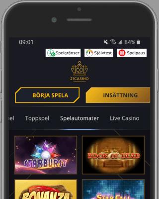 21 Casino i mobilen