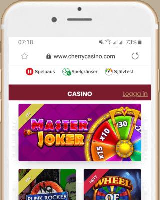 Cherry Casino i mobilen