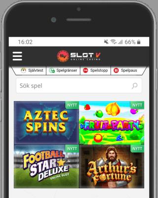 SlotV Casino i mobilen