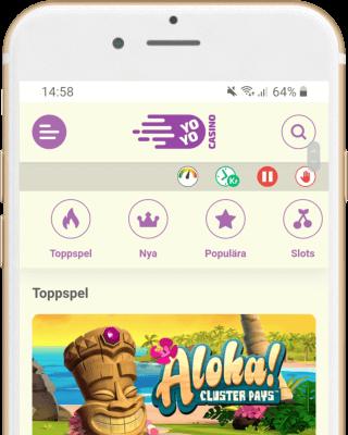 YoYo Casino i mobilen