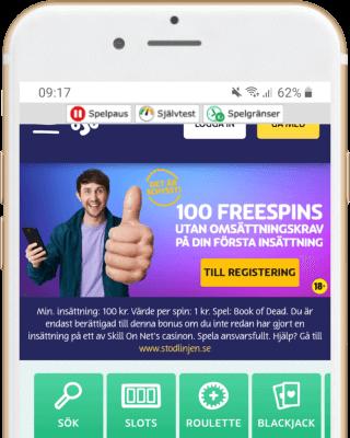 PlayOJO i mobilen