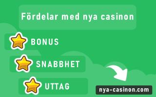 Fördelar med nya casinon